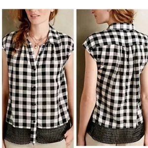 Anthropologie Holding Horses Nellie Plaid Top XS